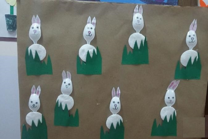 plastic spoon bunny craft