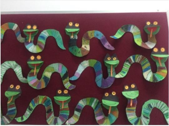 snake craft idea