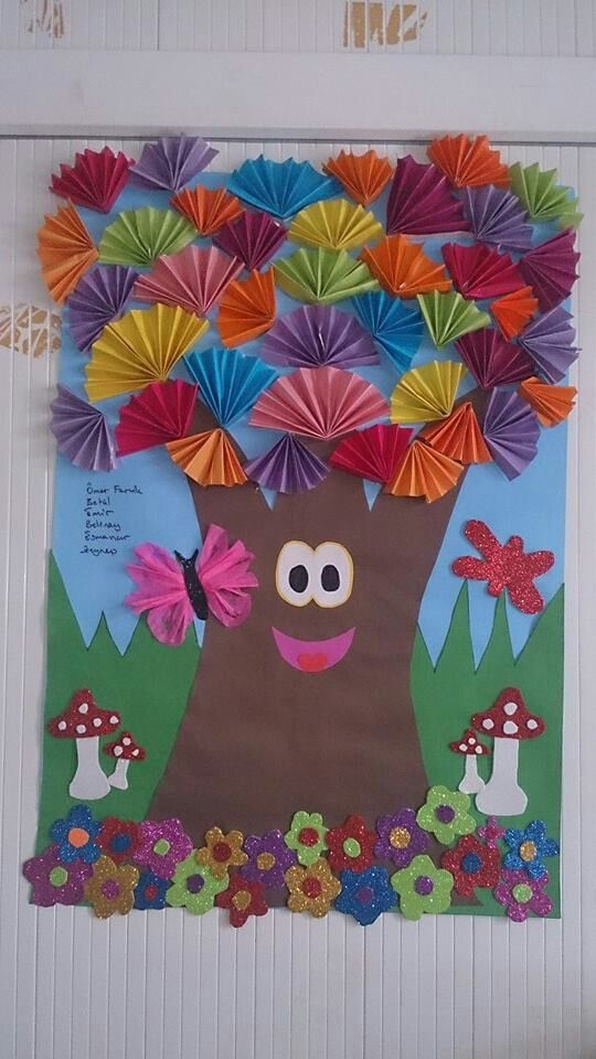 spring tree bulletin board idea