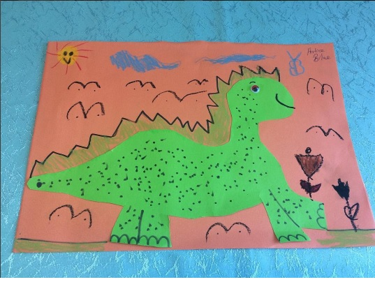 dinosaur bulletin board idea for kids (1)