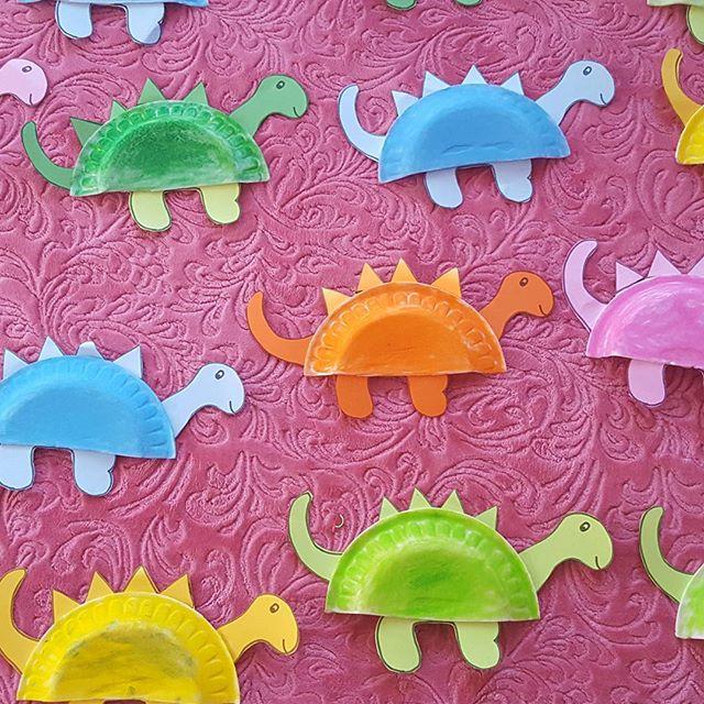 paper plate dinosaur crafts
