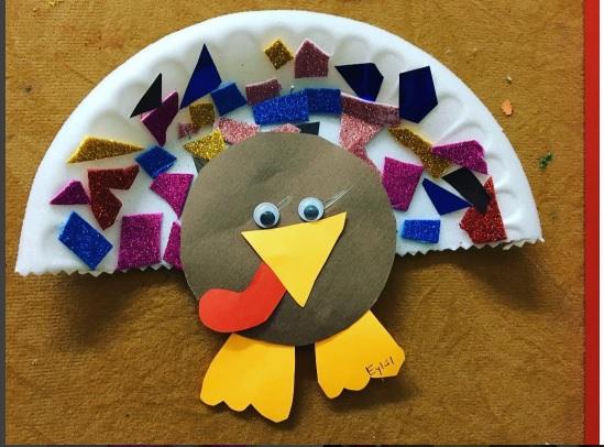 paper plate turkey craft idea