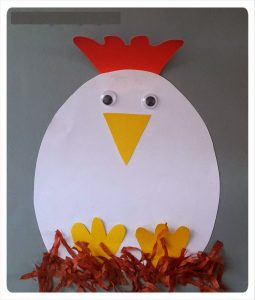 hen craft idea for toddlers