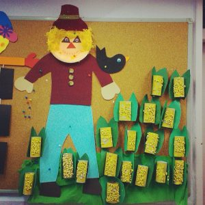 scarecrow bulletin board idea