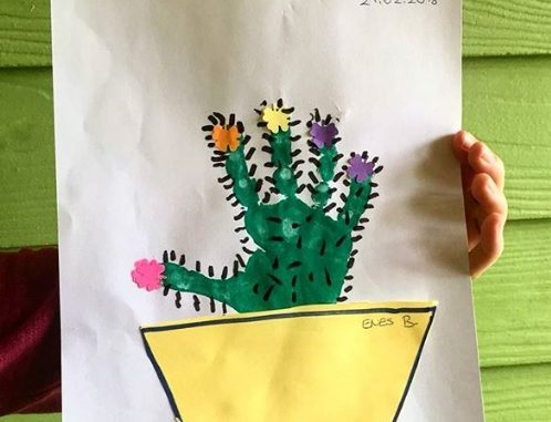 handprint cactus craft