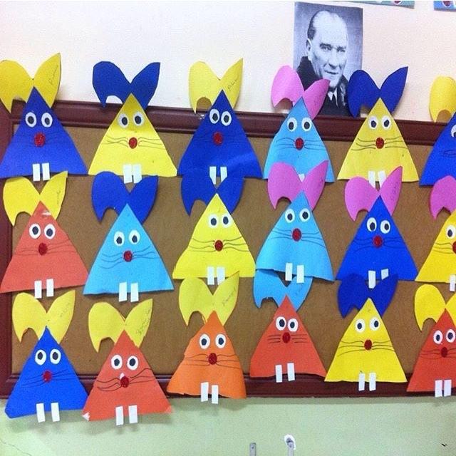 triangle bunny craft