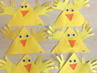 triangle chick craft idea