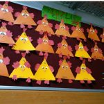 triangle hen craft